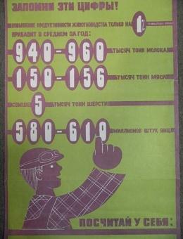 «Запомни эти цифры!» Худ. В.Арсеенков и В.Гинуков 52х33 тираж 30 000  «Плакат» 1978г
