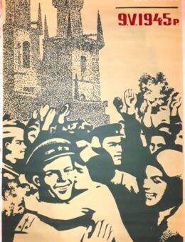 Агитплакат 25 лет со дня освобождения Праги . Художник Ступников , 115х69 см.