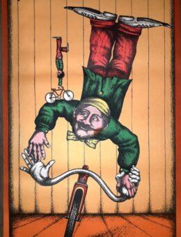 Цирковой плакат ЦИРК, Художник Чанцев 85х57 Тир. 3000.